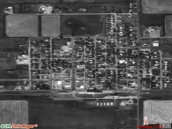 Westhope satellite photo by USGS 