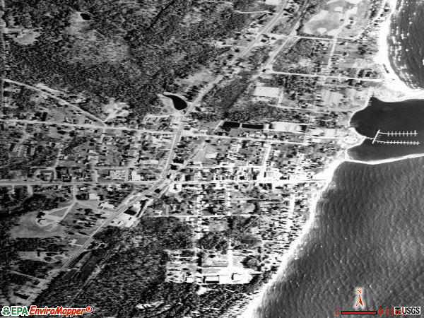 Harrisville satellite photo by USGS
