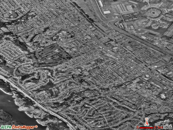 Millbrae satellite photo by USGS