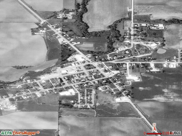 Worthington satellite photo by USGS 
