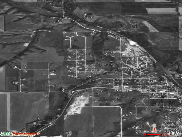 Lewistown Heights satellite photo by USGS 