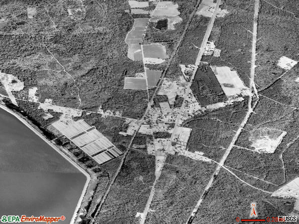 Bonneau satellite photo by USGS