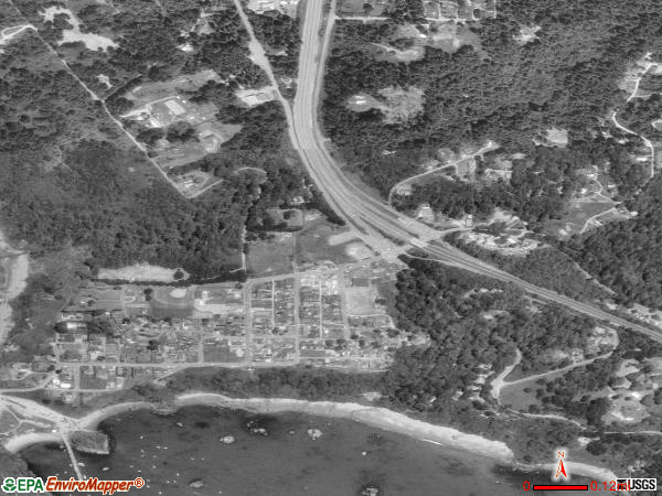 Trinidad satellite photo by USGS 