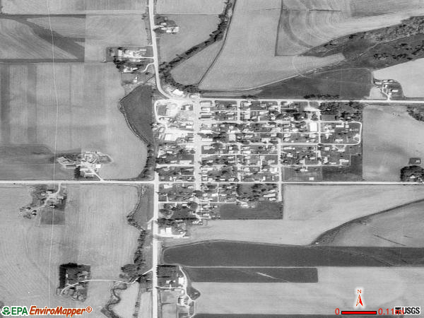 Farmersburg satellite photo by USGS