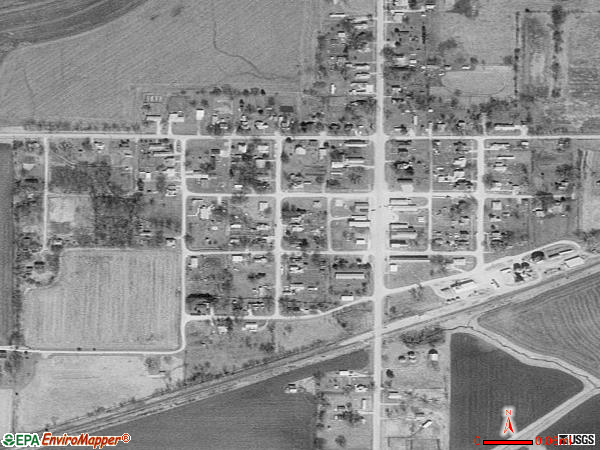 Ludlow satellite photo by USGS 
