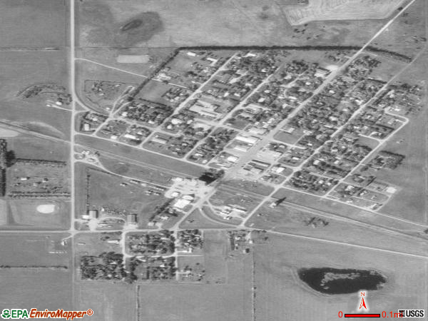 Binford satellite photo by USGS