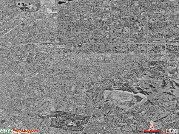 West Covina satellite photo by USGS
