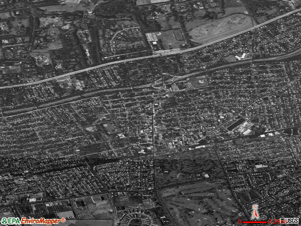 Westbury satellite photo by USGS 