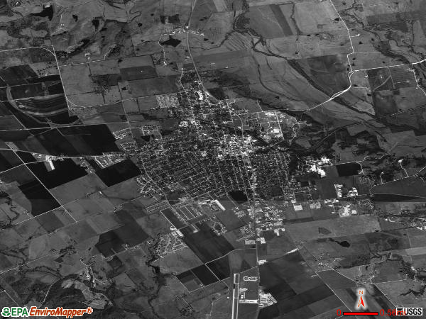 Lockhart satellite photo by USGS