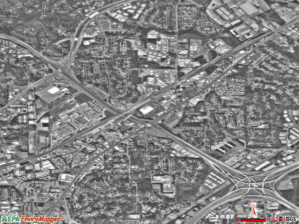 Doraville satellite photo by USGS 