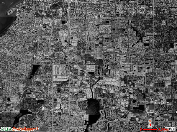 Largo satellite photo by USGS
