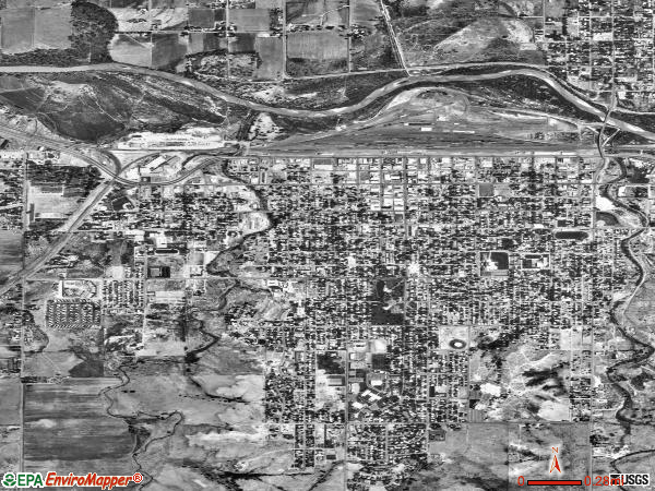 La Junta satellite photo by USGS 