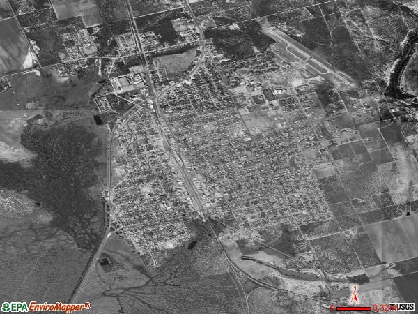 Crystal City satellite photo by USGS