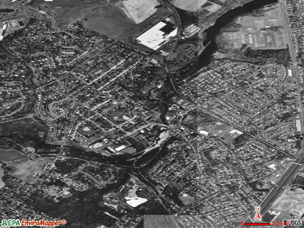 Milltown satellite photo by USGS