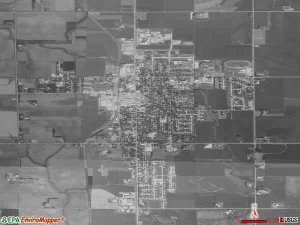 Sioux Center satellite photo by USGS