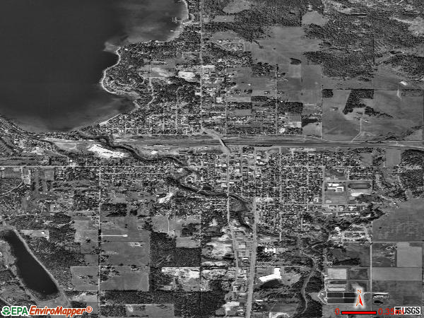 Whitefish satellite photo by USGS