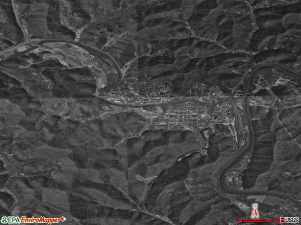 Paintsville satellite photo by USGS