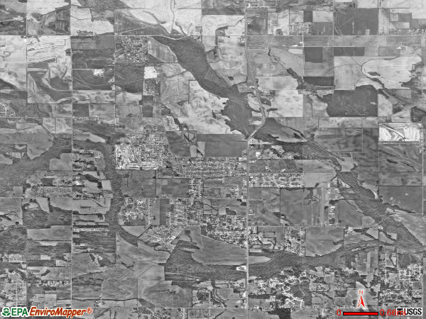 Meridianville satellite photo by USGS