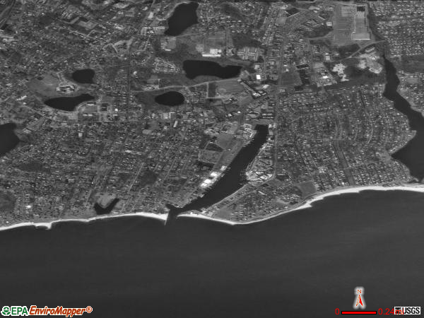 Falmouth satellite photo by USGS