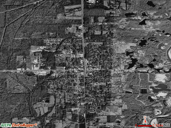 Amite City satellite photo by USGS