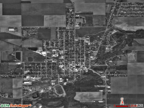 Paulding satellite photo by USGS