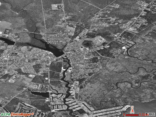 Tuckerton satellite photo by USGS 