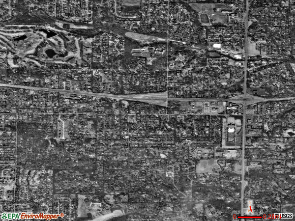 Frontenac satellite photo by USGS