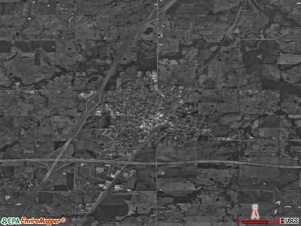 Checotah satellite photo by USGS 