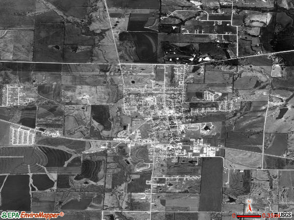 Princeton satellite photo by USGS
