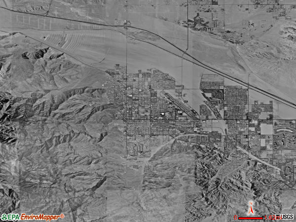 Palm Springs satellite photo by USGS