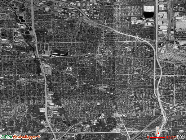 Elmhurst satellite photo by USGS