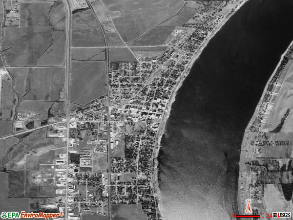 Lake Village satellite photo by USGS