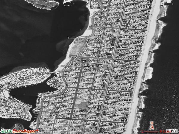 Lavallette satellite photo by USGS 
