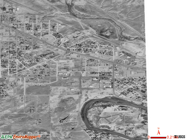 Mills satellite photo by USGS 