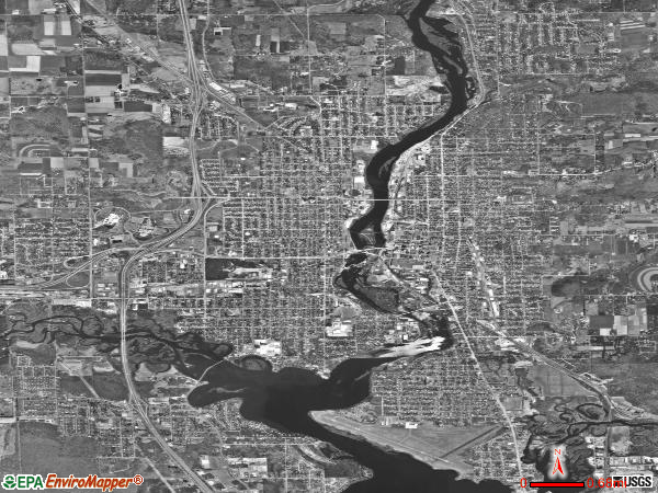 Wausau satellite photo by USGS