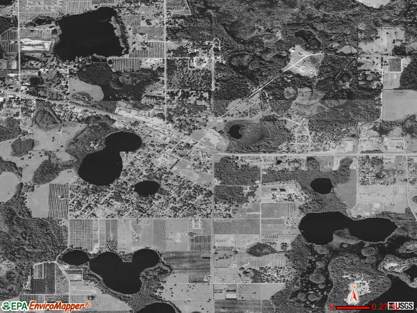 Groveland satellite photo by USGS 