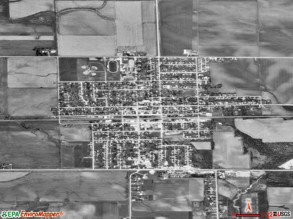 Jesup satellite photo by USGS