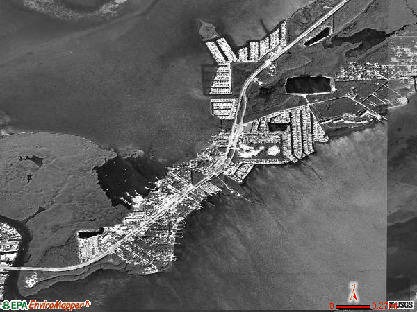 Tavernier satellite photo by USGS 