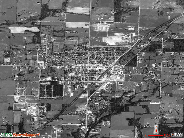 Gentry satellite photo by USGS
