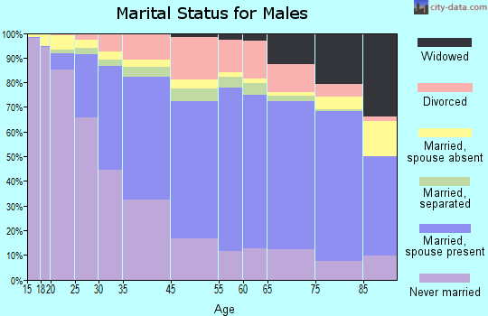 Springfield marital status for males