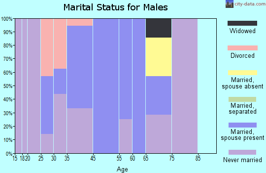 Copemish marital status for males