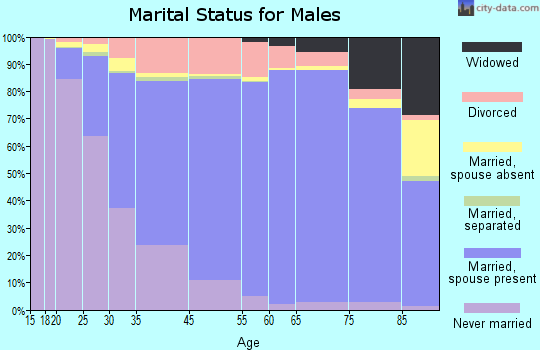 Bloomington marital status for males