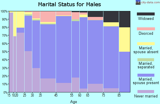 New Ulm marital status for males