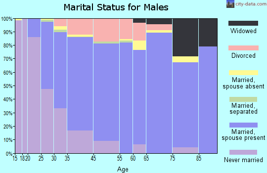 North St. Paul marital status for males