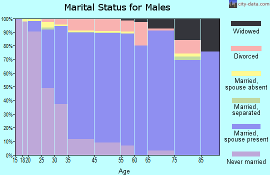 Shoreview marital status for males
