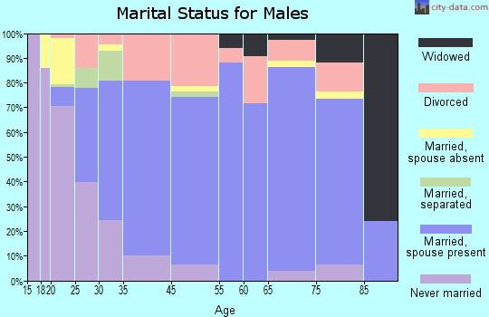 Booneville marital status for males