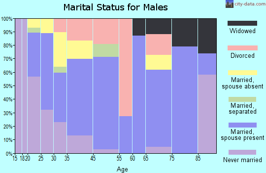 Mendenhall marital status for males