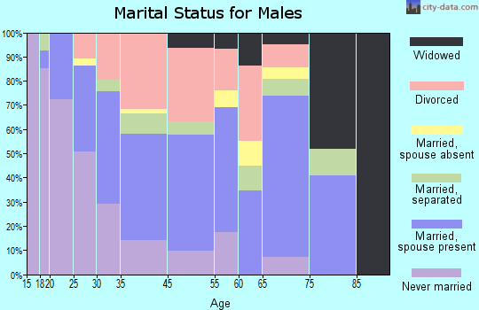 Shannon marital status for males
