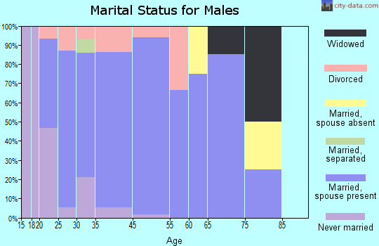 Fair Grove marital status for males