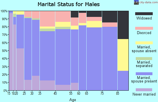 West Plains marital status for males
